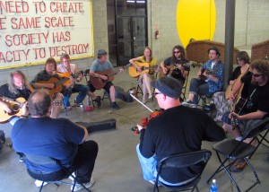 Chris Berry leads the Old-Time guitar workshop