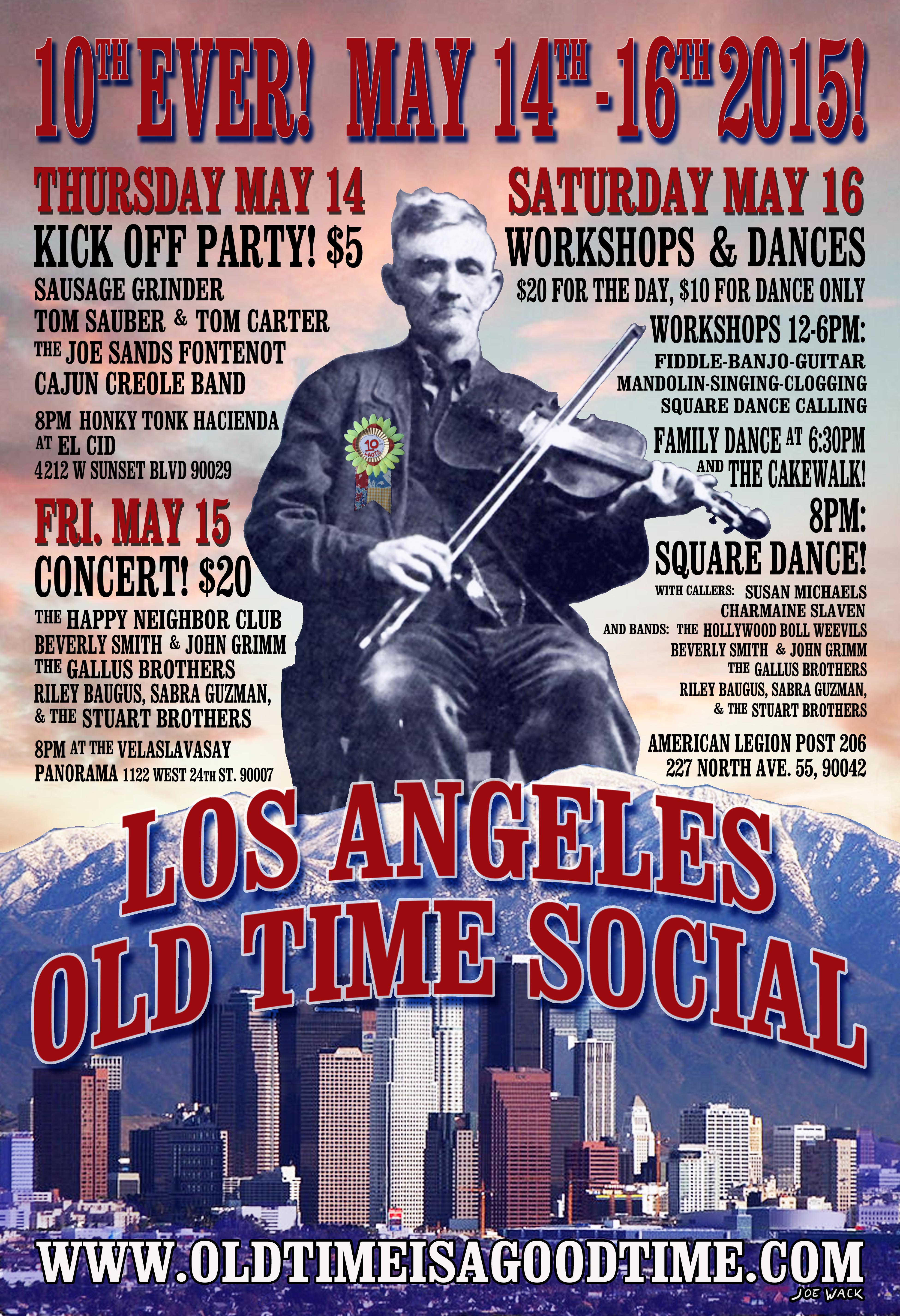 10th Ever Los Angeles Old Time Social!